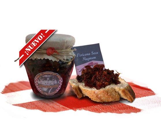 Pericana seca magnum. Esta versión de Pericana incluye el pimiento seco, bacalao y ajo, en la proporción perfecta para añadir aceite de oliva al gusto y consumir