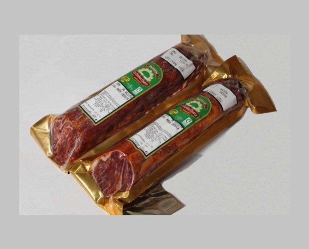 Lomo de Bellota 100% Ibérico. Envasado al vacío para que conserve todas sus propiedades durante más tiempo.
