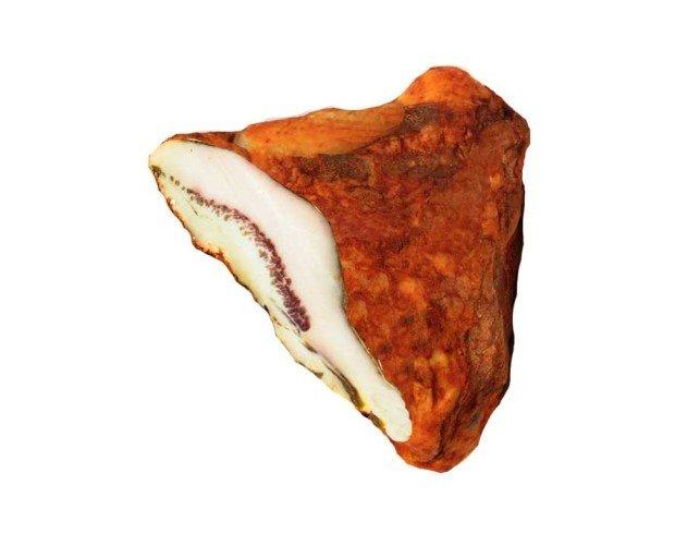 Barbada de Cerdo Ibérico. Azúcares, antioxidante E-301, conservante E-252.