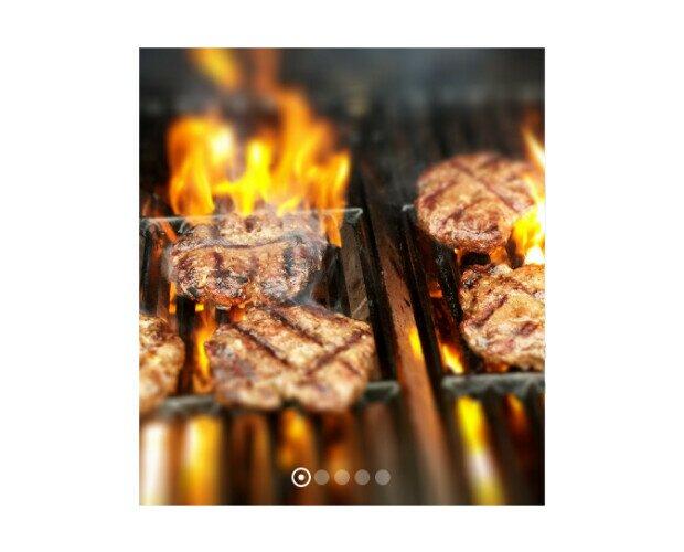 Haburguesa al Grill. Se elaboraban de forma artesanal en un pueblo de La Coruña