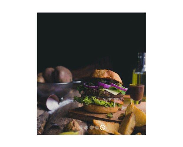 Haburguesa con Vegetales. Trabajamos por convertir la hamburguesa en un alimento sano