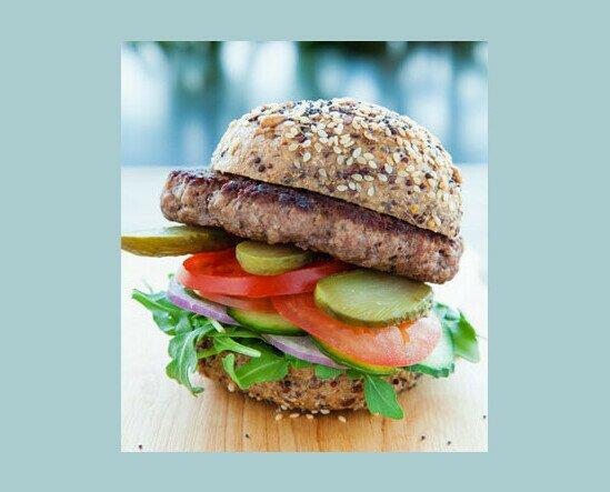 Haburguesa Ternera. Elaborada 100% con carne de ternera gallega