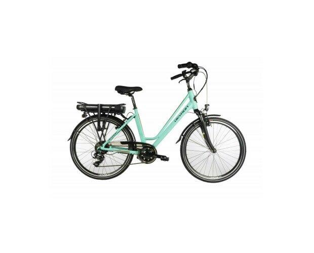 Bicicleta Electrica City Azul. Son bicicletas eléctricas con una postura cómoda
