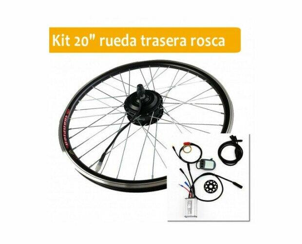 Kit Motor para Bicicleta Eléctrica. Sólo tendrás que sustituir tu rueda por la de nuestro kit