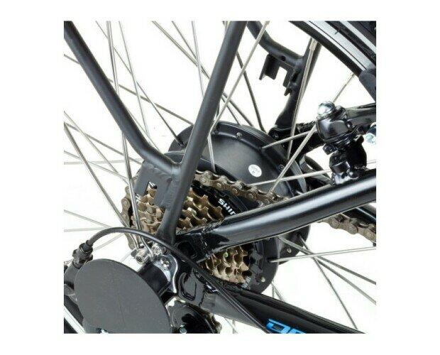 Bicicleta Eléctrica DEVRON. Cuenta con ruedas de 20 pulgadas