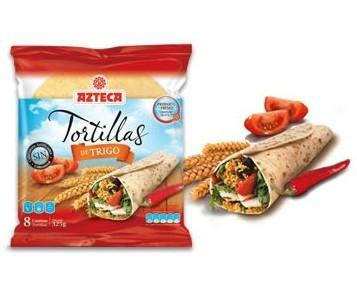 Tortillas de trigo. Tortillas de trigo azteca