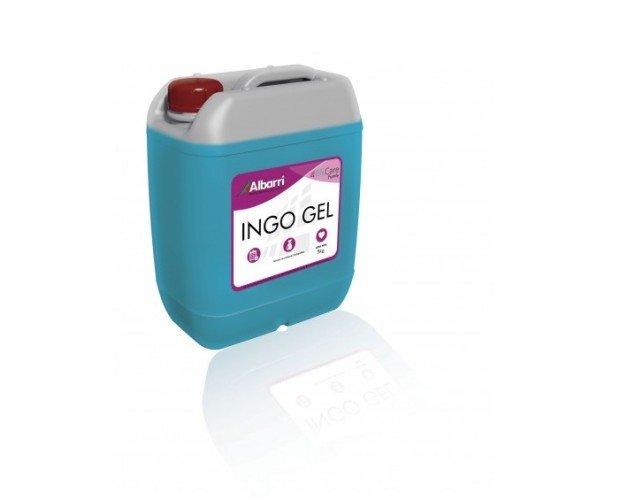 Indo Gel. Gel hidroalcohólico antiséptico y desinfectante para piel sana.