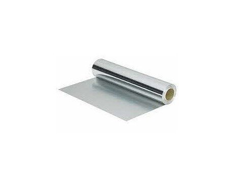 Papel de aluminio. Rollo de papel aluminio