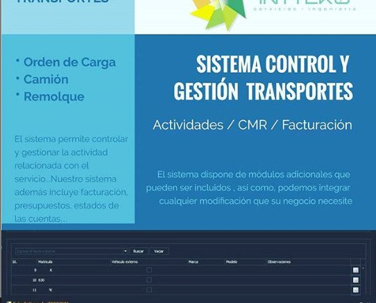 Sistema de gestión de transporte. Este sistema Permite la gestión completa del transportes: Actividades del transporte, CMR, Orden de Carga, parte...