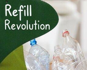 Refill, Reuse. La solución al consumo de envases plásticos. Reusar y rellenar sus envases ya usados