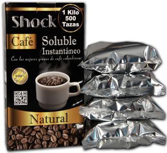 Café Soluble.Con 4 bolsas de 250 gramos