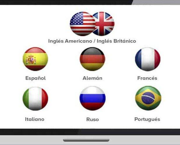 Idiomas.Plataforma para autoaprendizaje con 8 idiomas. Tutor de acompañamiento. Servicio 24/7