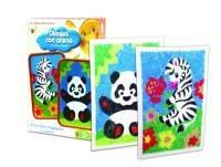 Arena panda cebra