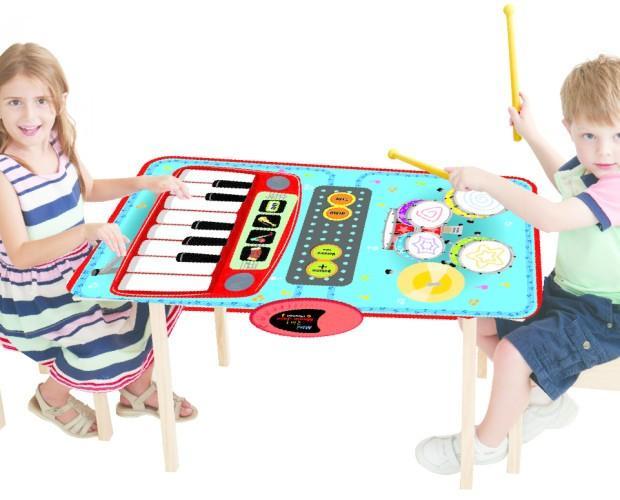 Mini Música para 2. Manta musical. Piano y batería 2 en 1