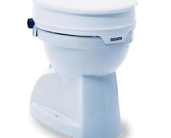 Ayudas Técnicas Sanitarias.Eleva la base del wc en 10 cm. Se fija únicamente colocándolo encima de la base del inodoro.