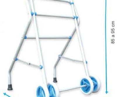 Andador. Andador de aluminio con dos ruedas