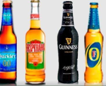 Cervezas. Diversidad de cervezas de importación