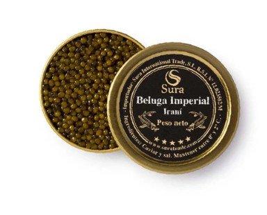 Caviar iraní. Obtenido del esturión beluga