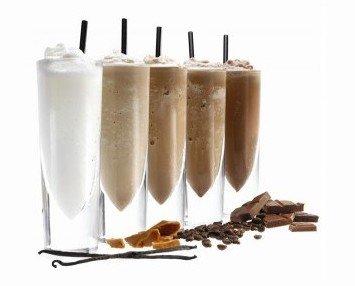 Frappés. Latte, Latte Descafeinado, Choco, Choco-Avellana