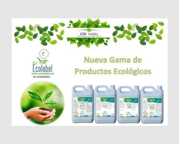 ECOLABEL. Gama de productos ecológicos en diferentes formatos (1L, 5L, 10L y 20L)