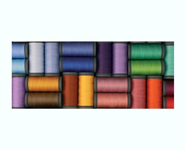 Carretes de seda. Fibra natural