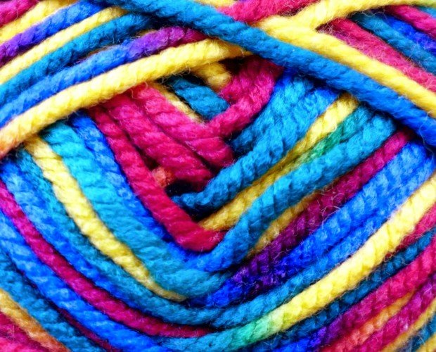 Hilos de lana. De colores