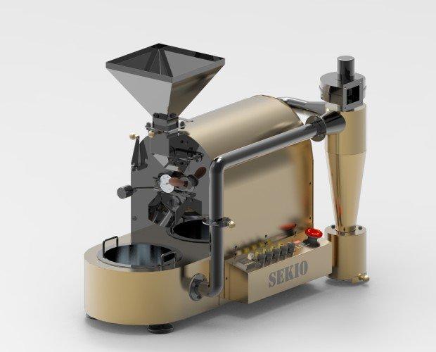 Tostador Golden Black. Con una capacidad de hasta 1Kg. por tostada, unos 4 Kg. a la hora