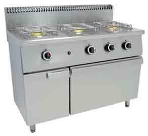 Cocinas industriales. Cocina 3 fuegos con horno