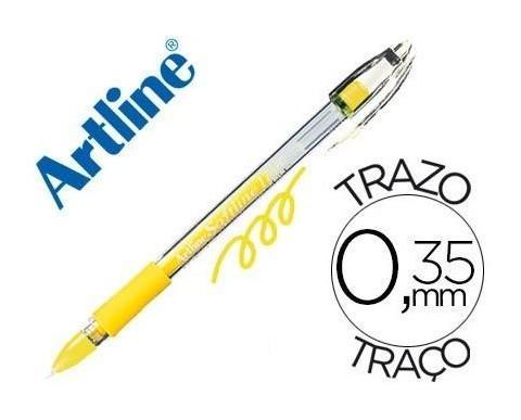 Bolígrafo Artline. Amarillo fluorescente.