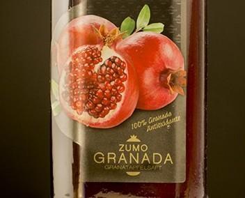Zumo de Granada. Zumo natural de granada
