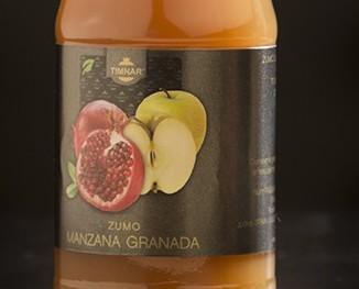 Manzana granada. Zumo de manzana y granada