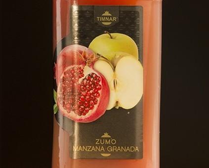 Zumo manzana granada. Zumo natural