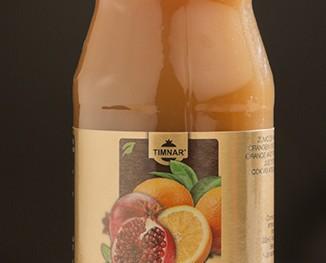 Naranja granada. Zumo de naranja y granada