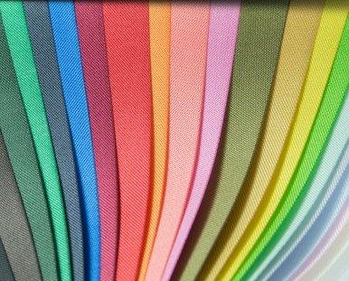 Soporte textil. Variedad de colores