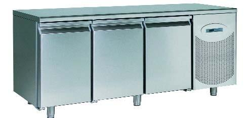 Mobiliario de acero inoxidable. Mesas frías y armarios