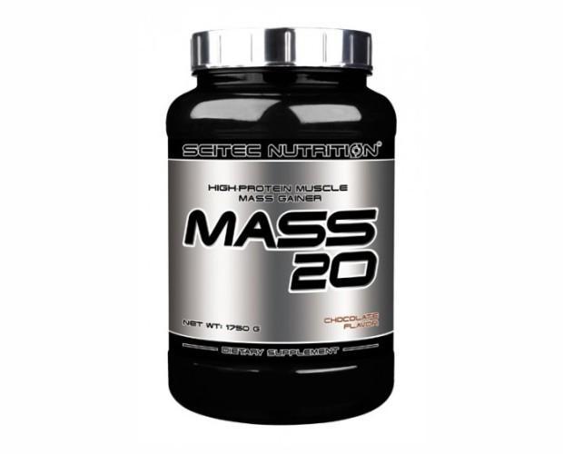 Mass 20. Los aumentadores de peso Mass son los primeros miembros de la línea de ganancia sin grasa, baja en calorías Scitec.