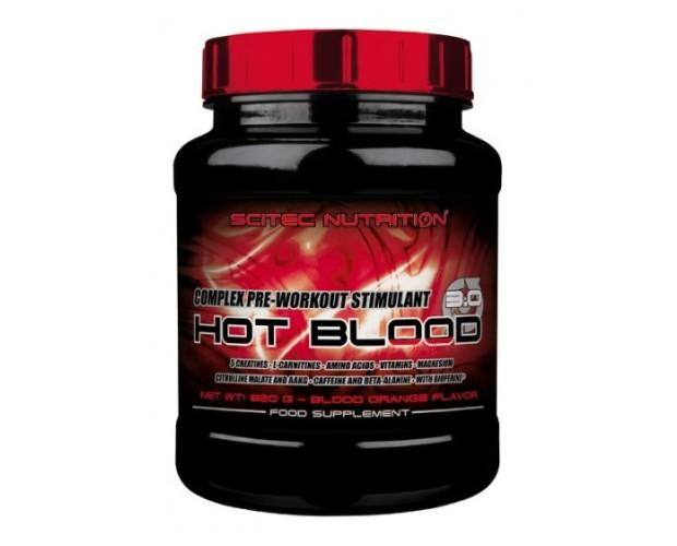 Hot Blood 30. Fórmula compleja estimulante de pre-entrenamiento