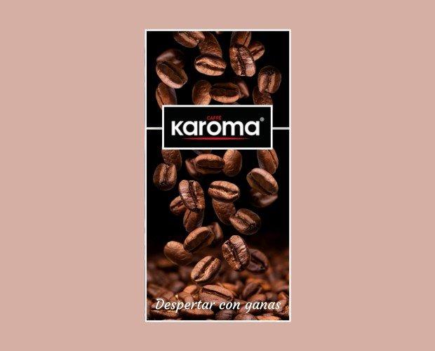 Café Karoma Slogan. Despertar con ganas