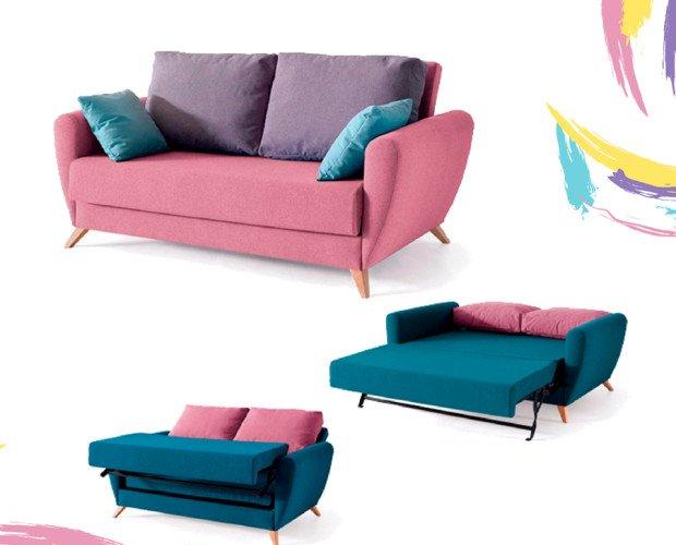 Sofa cama Simón. Muy colorido