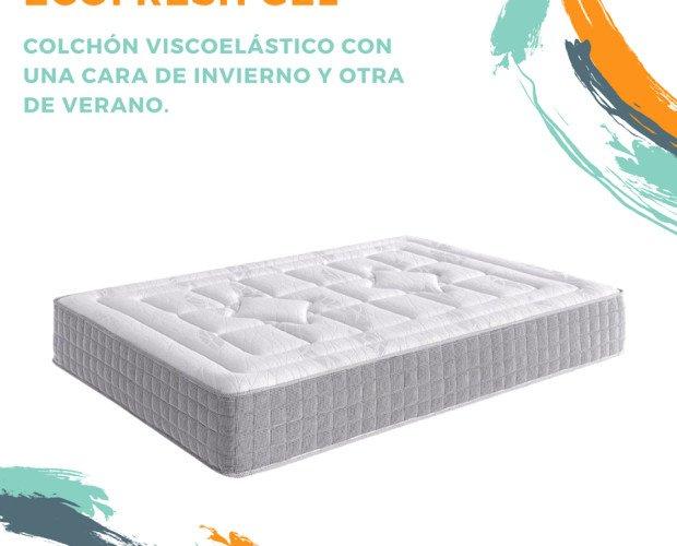 Ecofresh gel. Con cara de invierno y verano para que tu colchón se adapte a ti.