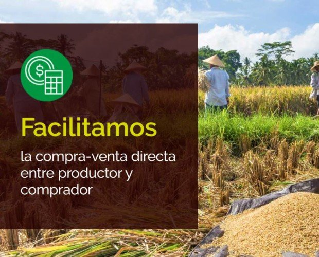 Facilitamos el Comercio Directo. Facilitamos la compra-venta directa entre productor y comprador