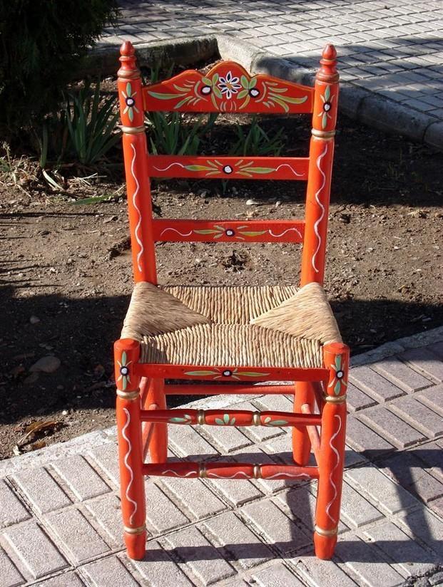 Mobiliario para Hostelería. Silla Sevillana Roja