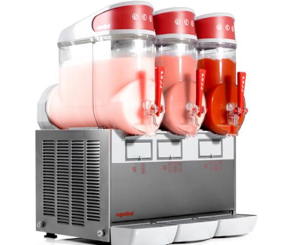 Granizadoras.Máquina de granizados Ugoolini, de 1, 2 y 3 sabores