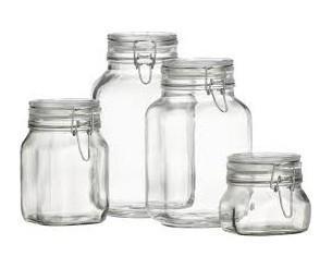 Botes herméticos. Botes de cristal con cierre herméticos