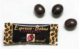 Chocolates de Cortesía.Grano de café tostado con cobertura de chocolate