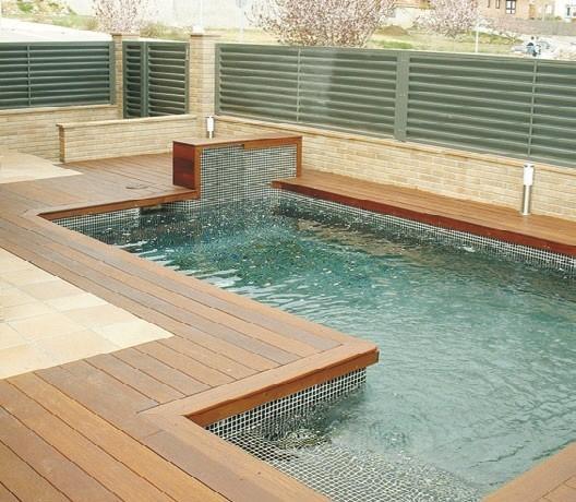 Im genes de piscinas azul agua - Presupuestos piscinas de obra ...