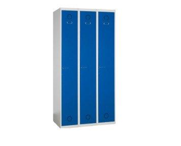 Taquilla de tres puertas. Taquillas metálicas para vestuarios con 3 puertas, 3 columnas.