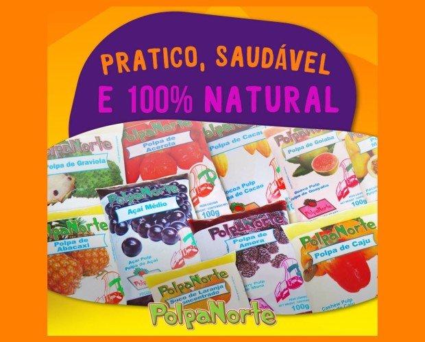 Pulpa 100% natural. Fruta de Brasil
