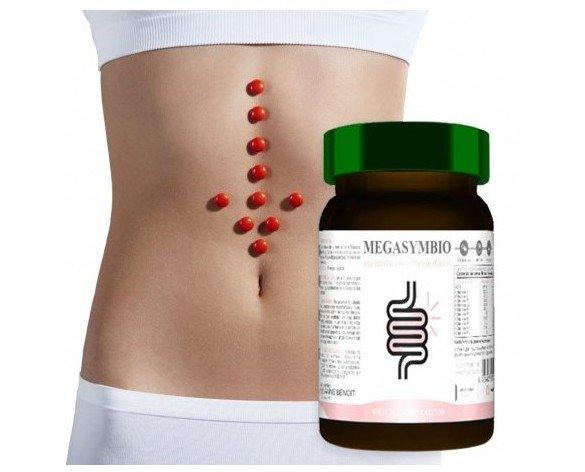 Megasymbio. Megasymbio es un complemento alimenticio diseñado para contribuir a la regulación de la flora intestinal de manera natural gracias a su composición a...