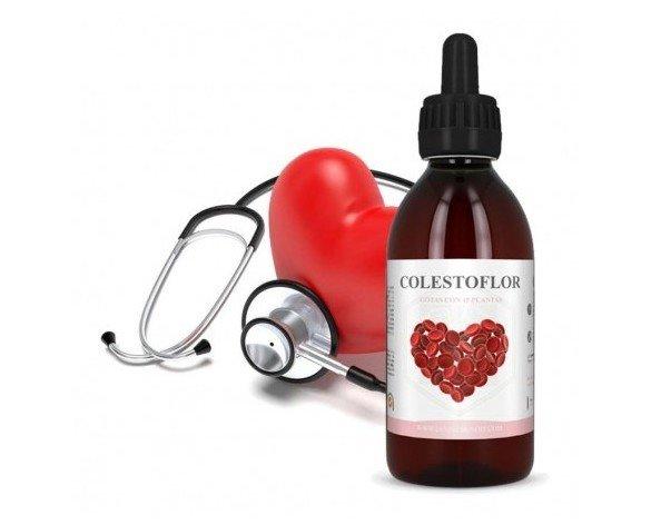 Colestoflor. Contiene un conjunto de extractos de plantas beneficiosas para aminorar la presencia de colesterol malo en nuestro organismo